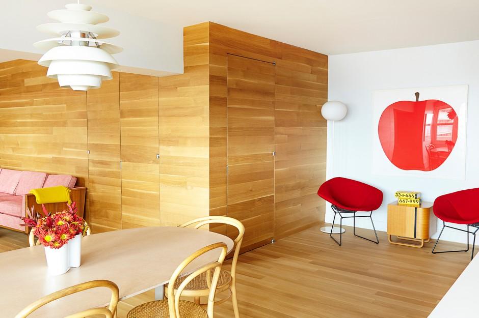 Modern flat lauren rubin architecturelauren rubin for Room decor 6d